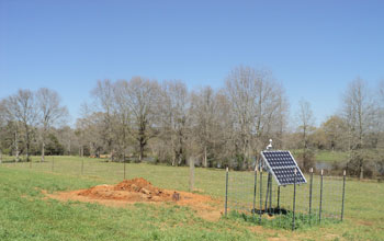 Photo of EarthScope Transportable Array Station 345A located near Columbia, Miss.