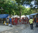 Photo of facility in Haiti where cholera outbreak is being studied by EEID scientists.