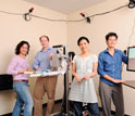 Photo of researchers who will develop a therapeutic robot for human rehabilitation.