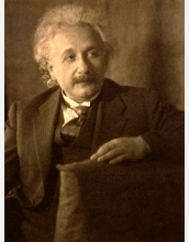 photo portrait of physicist Albert Einstein