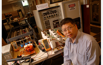 Photo of Alex Huang who works on ways of integrating renewable energy sources into the power grid.