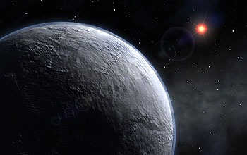 ESO artist's rendition of the newly discovered extrasolar planet