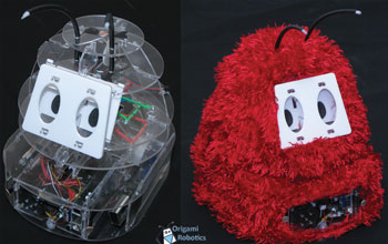 Image of two DIY assistive robots used for social therapy, STEM education or just fun.