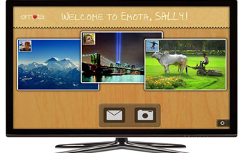 Image of emota.TV, a SmartTV app for bringing the Emota experience into the living room.