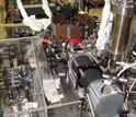 Photo of the vacum chamber and camera in Mark Saffman's lab used to detect single atoms.
