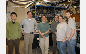 Photo of the research team in their lab.