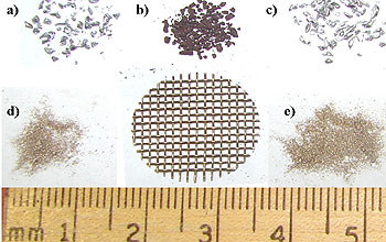 Virginia Tech researchers examined different types of leaded particles.
