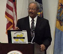 Image of Congressman Chaka Fattah (D-PA) speaking at Sept. 19 event at Drexel University.