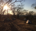 The researchers' field camp in the Rukwa Rift Basin in southwestern Tanzania.
