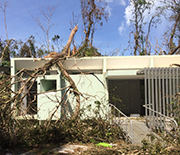 The NSF Luquillo field station was in the direct path of the hurricane.