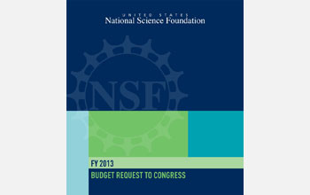 Cover of the FY 2013 NSF Budget Request to Congress.