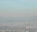 Pollution haze hangs above Los Angeles.