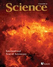 Cover of January 16, 2009, issue of Science magazine