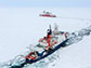 U.S. Coast Guard Cutter Healy and the German research icebreaker Polarstern