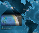The locations of the new Ocean Observatories Initiative are shown in this graphic.