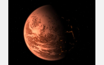 An artist's conception of the new planet