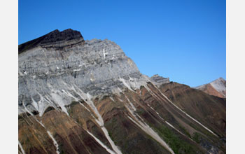 Photo of a rock formation showing evidence of past glaciation in tropical latitudes.