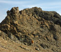 Photo of rocks in northwestern Canada that show evidence of past ice cover at tropical latitudes.