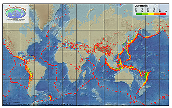 Multimedia gallery global map of earthquakes nsf national a global map of earthquake activity gumiabroncs Gallery