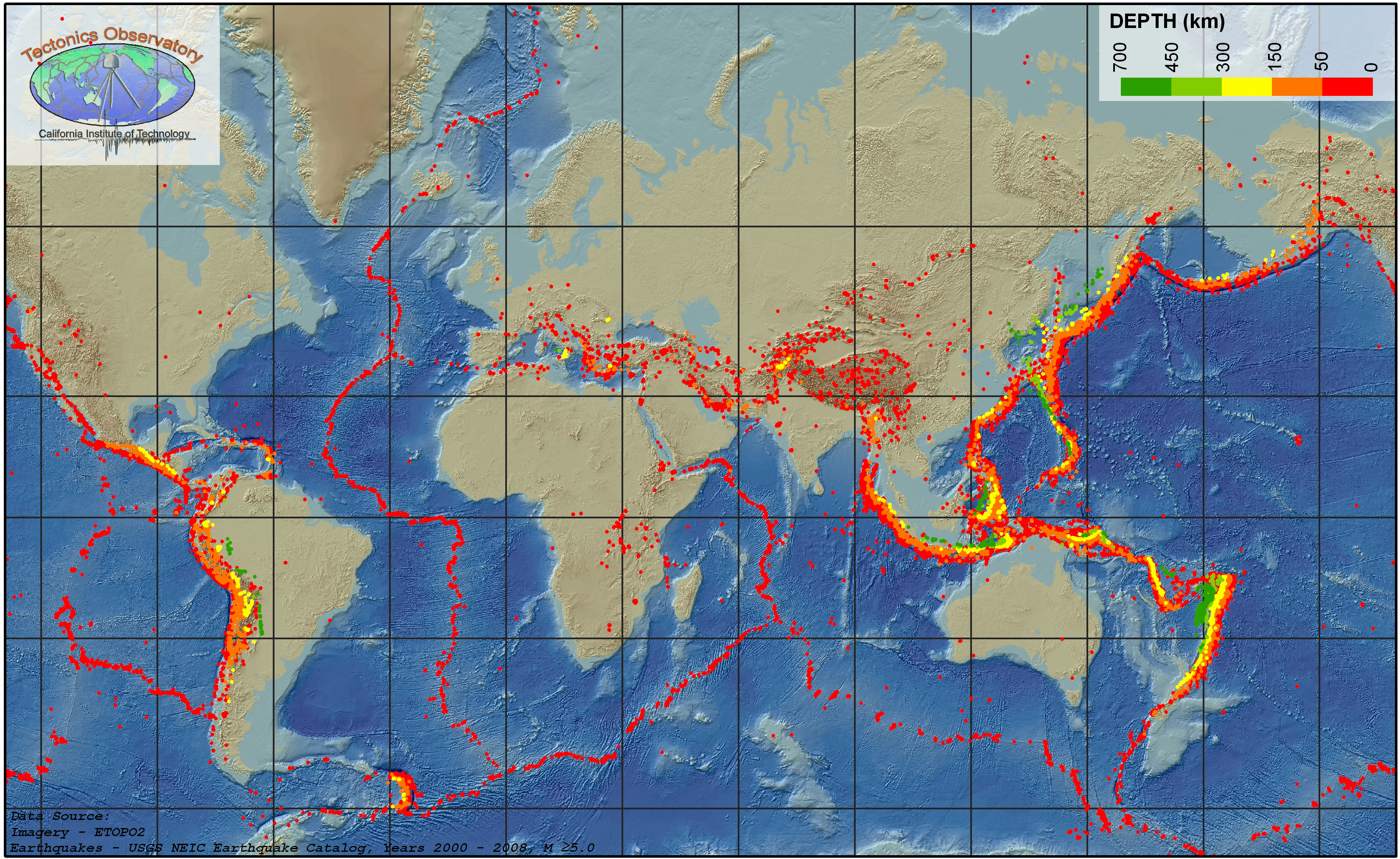 Multimedia Gallery Global Map of Earthquakes