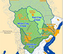 Map of the Christina River Basin, site of one of six NSF Critical Zone Observatories (CZOs).