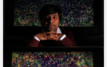 Photo of astronomer Asantha Cooray of the University of California at Irvine.
