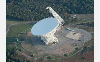 Photo of the Robert C. Byrd Green Bank Telescope.