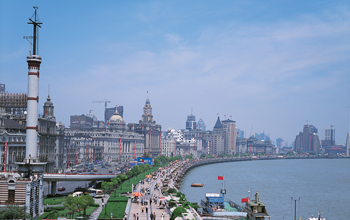 Photo of Shanghai waterside.