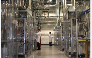 Photo of researchers working in one of Virent's liquid fuel laboratories.