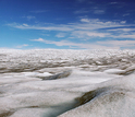 A view of the Greenland ice sheet