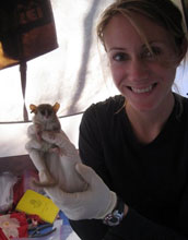 GRF Meredith Barrett with lemur