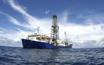 The scientific drilling vessel JOIDES Resolution