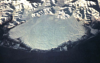 Malaspina Glacier as seen from space