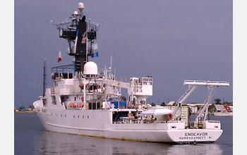 The vessel Endeavor, operated by URI, embarked June 17 on a 12-day research expedition.