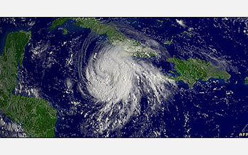 Photo of hurricane Gustav.