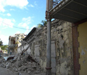 Photo showing damage in downtown Jacmel, Haiti, from the Jan. 12, 2010, earthquake.