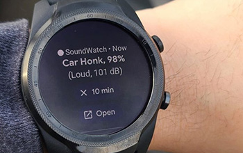 smartwatch app for d/Deaf and hard-of-hearing people