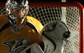 Photo of Nashville Predators goaltender Pekka Rinne.