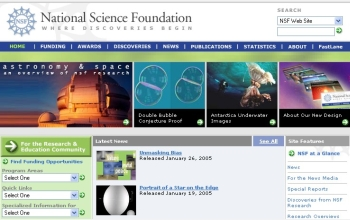 NSF's new home page