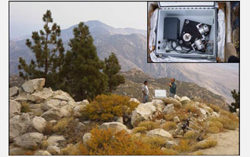 Photo of the Streckeisen STS-2 seismometers which were part of the first HPWREN seismic studies.