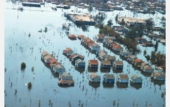 Sediment from floodwaters of Hurricanes Katrina and Rita contain high levels of contamination.
