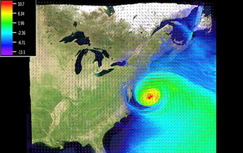 Simulation of Hurricane Sandy
