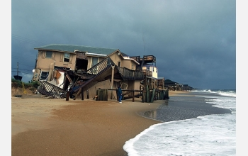 Hurricane damage in Kitty Hawk, North Carolina, from Hurricane Dennis (July 3, 2005)