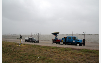 Photo of the mobile Doppler on Wheels that braved Ike's hurricane winds last week.