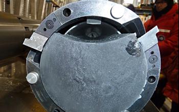 Close-up image of a replicate ice core