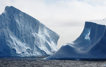 Photo of an iceberg near the Antarctic Peninsula.