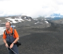 Glaciovolcanologist Ian Skilling at Canada's Edziza volcano, where lava was once under ice.
