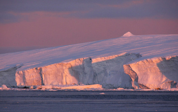 Sunset on the Sabrina Coast, East Antarctica