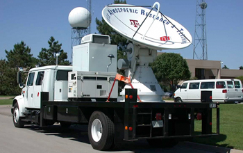"A ""smart radar""satellite on a truck."