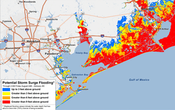 Map Of Texas Storms.Communicating A Hurricane S Real Risks Nsf National Science